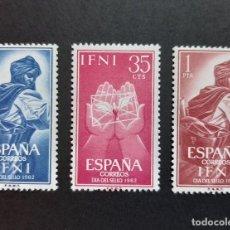 Sellos: SELLOS IFNI - 1962 - ED. 190 A 192 - DIA DEL SELLO - NUEVOS /**/. Lote 244748925