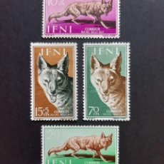 Sellos: SELLOS IFNI - 1957 - ED. 138 A 141 - DIA DEL SELLO - NUEVOS CON FIJASELLO /*/. Lote 244909195