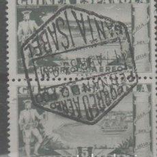 Sellos: LOTE T- SELLOS GUINEA MATA SELLOS SANTA ISABEL CORREO AEREO ABRIL 1953 PRECIOSO. Lote 245004415