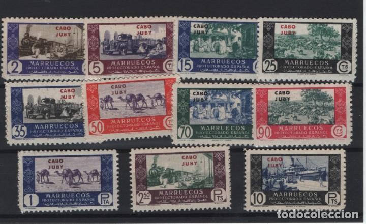 R12/ CABO YUBY, Y&T 162/72, AÑO 1948 (Sellos - España - Colonias Españolas y Dependencias - África - Cabo Juby)
