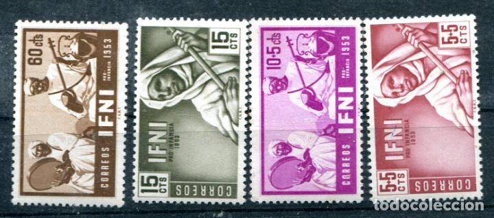 EDIFIL 95/98 DE IFNI. TEMA PRO INFANCIA. NUEVOS SIN FIJASELLOS. (Sellos - España - Colonias Españolas y Dependencias - África - Ifni)