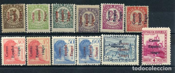 TÁNGER 1938 CORREO ESPAÑOL. EDIFIL 96-107 SERIE COMPLETA SIN FIJASELLOS (Sellos - España - Colonias Españolas y Dependencias - África - Tanger)
