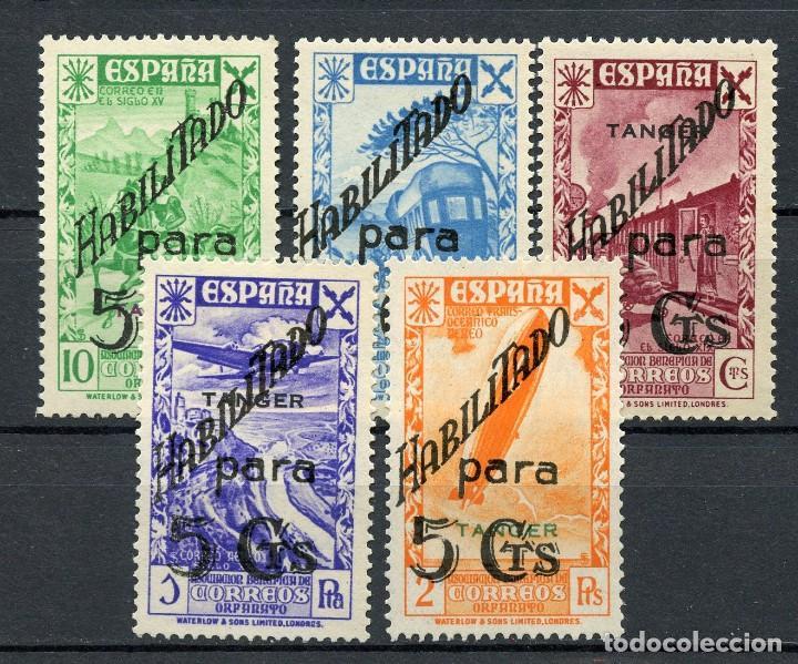 TÁNGER CORREO ESPAÑOL. BENEFICENCIA 12 -16 SIN FIJASELLOS (Sellos - España - Colonias Españolas y Dependencias - África - Tanger)