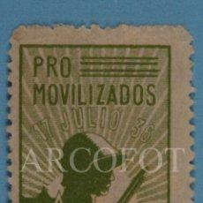 Sellos: SELLO CORREOS 10 CTS MARRUECOS PRO MOVILIZADOS 17 JULIO 36 - EL DE LAS FOTOS. Lote 245301340