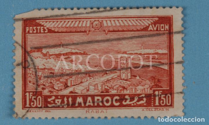 POSTES AVION 1 F 50 - MAROC - RABAT - EL DE LAS FOTOS (Sellos - España - Colonias Españolas y Dependencias - África - Marruecos)