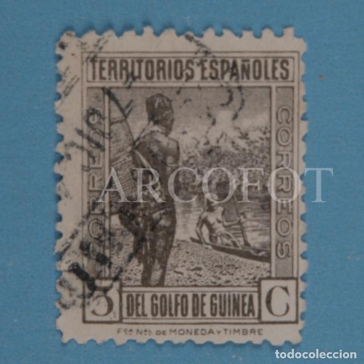 CORREOS - TERRITORIOS ESPAÑOLES DEL GOLFO DE GUINEA - 5 C - EL DE LA FOTO (Sellos - España - Colonias Españolas y Dependencias - África - Guinea)