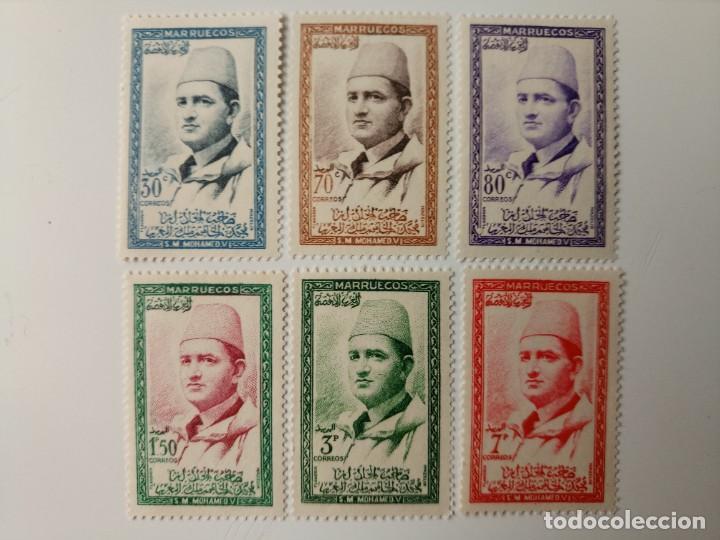 MOHAMED V DEL AÑO 1957 EDIFIL 13/18 EN NUEVO ** (Sellos - España - Colonias Españolas y Dependencias - África - Marruecos)