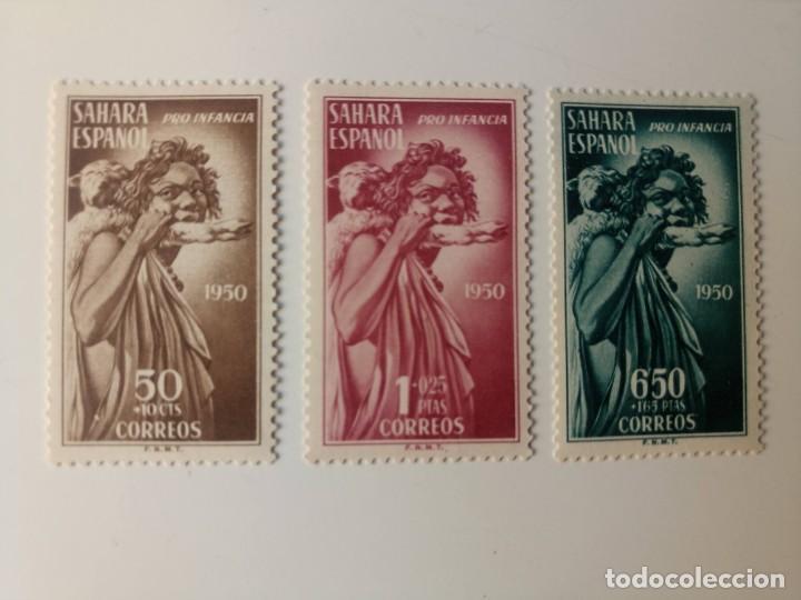 PRO. INDÍGENAS DEL AÑO 1950 EDIFIL 83/85 EN NUEVO ** (Sellos - España - Colonias Españolas y Dependencias - África - Sahara)
