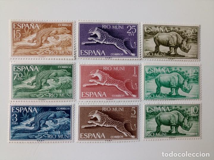 FAUNA ECUATORIAL DEL AÑO 1964 EDIFIL 48/56 EN NUEVO ** (Sellos - España - Colonias Españolas y Dependencias - África - Río Muni)