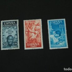 Sellos: FERNANDO POO. 1965. 22 FE. XXV AÑOS DE PAZ Nº 239/241 **. Lote 245437415