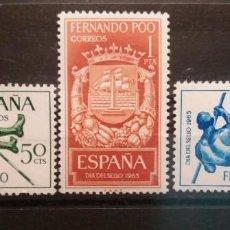 Sellos: FERNANDO POO. 1965. 23 DE NOV. DÍA DEL SELLO Nº 245/247 **. Lote 245440230