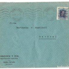 Sellos: 1927 CARTA TETUÁN A ALEMANIA ALFONSO XIII 40C. SOBRECARGA ZONA DE PROTECTORADO ESPAÑOL EN MARRUECOS.. Lote 245448855