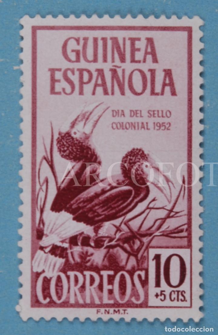 SELLO DE CORREOS - GUINEA ESPAÑOLA 10 + 5 CTS. - DÍA DEL SELLO COLONIAL 1952 - EL DE LA FOTO (Sellos - España - Colonias Españolas y Dependencias - África - Guinea)