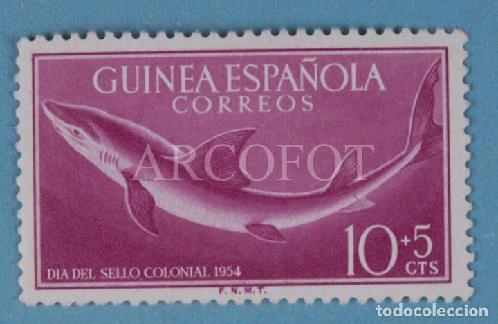 SELLO DE CORREOS - GUINEA ESPAÑOLA 10 + 5 CTS. - DÍA DEL SELLO COLONIAL 1954 - EL DE LA FOTO (Sellos - España - Colonias Españolas y Dependencias - África - Guinea)