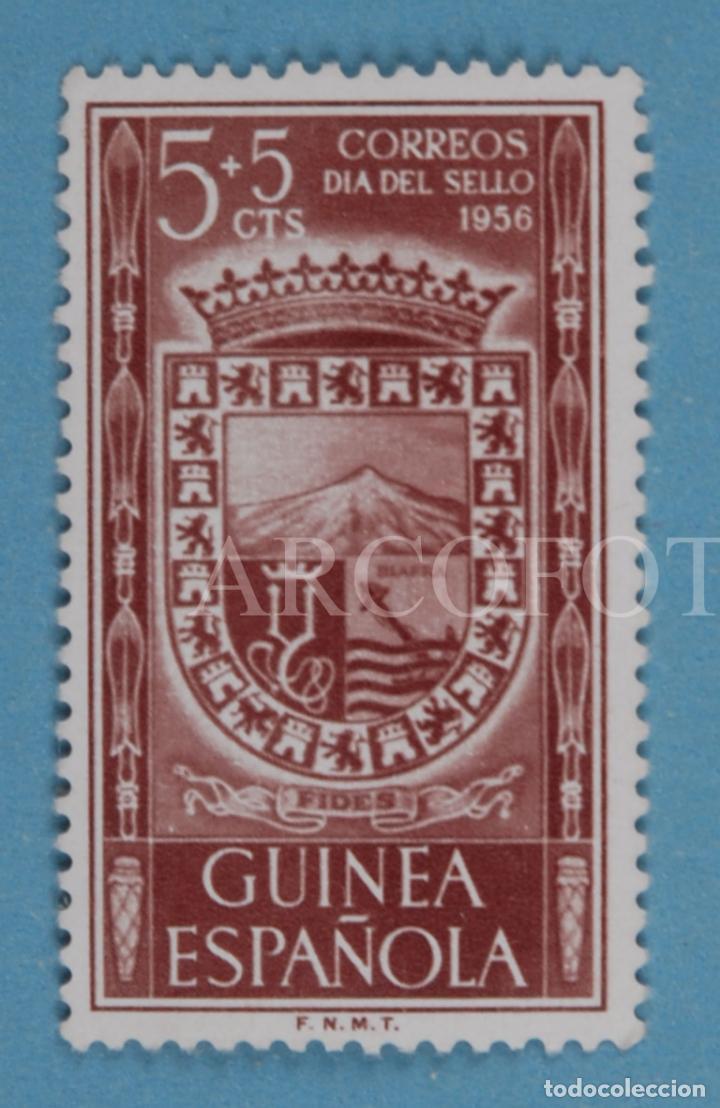 SELLO DE CORREOS - GUINEA ESPAÑOLA 5 + 5 CTS. - DÍA DEL SELLO 1956 - EL DE LA FOTO (Sellos - España - Colonias Españolas y Dependencias - África - Guinea)
