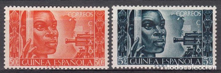 GUINEA ESPAÑOLA NUMS. 309 - 310 NUEVOS CON FIJASELLOS (Sellos - España - Colonias Españolas y Dependencias - África - Guinea)