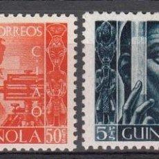 Sellos: GUINEA ESPAÑOLA NUMS. 309 - 310 NUEVOS CON FIJASELLOS. Lote 246053630