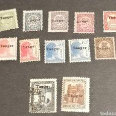 Sellos: ESPAÑA TANGER 1939 EDIFIL 114/124 , 127 SERIE CORTA NUEVO Y USADO. Lote 246126300