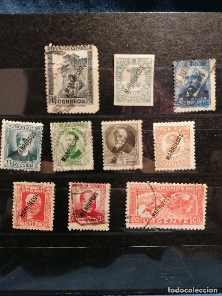 Sellos: España Tanger 1933 Edifil 70/81,84 Serie Corta Nuevo y usado muy escaso - Foto 3 - 246128025