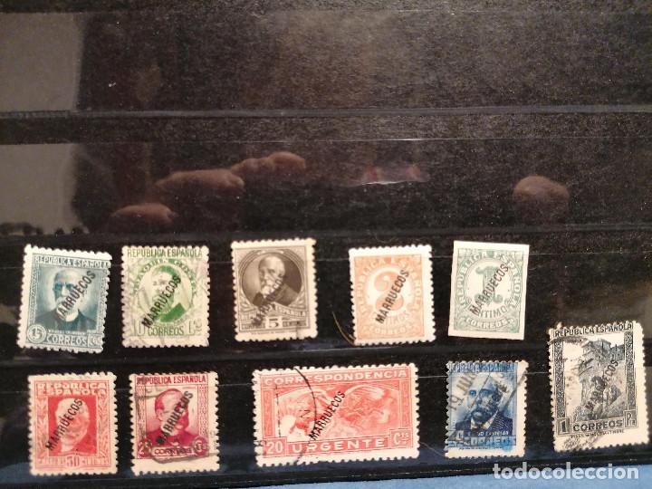 Sellos: España Tanger 1933 Edifil 70/81,84 Serie Corta Nuevo y usado muy escaso - Foto 5 - 246128025
