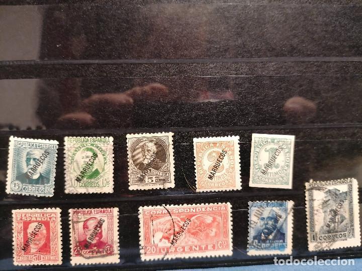 Sellos: España Tanger 1933 Edifil 70/81,84 Serie Corta Nuevo y usado muy escaso - Foto 6 - 246128025
