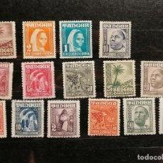 Sellos: ESPAÑA TANGER 1948/51 SELLOS EDIFIL 151/65 SERIE COMPLETA NUEVO Y USADO. Lote 246128590