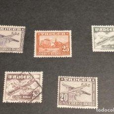 Sellos: ESPAÑA TANGER 1948/51 SELLOS EDIFIL 166/69,171 SERIE CORTA AEREA NUEVO Y USADO. Lote 246129000