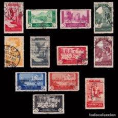 Sellos: ESPAÑA.MARRUECOS.1933-35.VISTAS PAISAJES.12 VALORES.USADO.EDIFIL.133-42/146-47. Lote 246161650