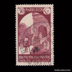 Sellos: MARRUECOS 1933-35.VISTAS PAISAJES.10C.USADO.EDIFIL.136. Lote 246216430
