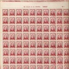 Sellos: 1937 TANGER EDIFIL 91** PLIEGO COMPLETO DE 100 VALOR DE CATALOGO 140 EUROS. Lote 294015958