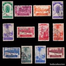 Sellos: ESPAÑA.MARRUECOS.1935-37.VISTAS PAISAJES.12 VALORES.USADO.EDIFIL.148-159. Lote 246227155