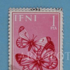 Sellos: SELLO DE CORREOS - IFNI - 1 PTA. - PRO INFANCIA 1963 - ANTHORCHARIS EUPHENO - EL DE LA FOTO. Lote 246314650