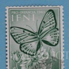 Sellos: SELLO DE CORREOS - IFNI - 50 CTS. - PRO INFANCIA 1963 - LYCAENA PHOEBUS - EL DE LA FOTO. Lote 246315285