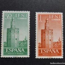 Sellos: SELLOS IFNI - 1963 - ED. 193 A 194 - AYUDA A SEVILLA - NUEVOS /**/. Lote 246318625