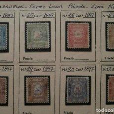 Sellos: FRANCIA-MARRUECOS CORREO LOCAL 1897 ZONA NORTE.. Lote 246513720
