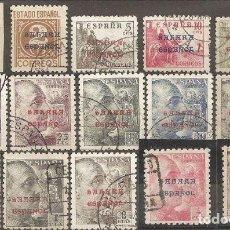 Sellos: SAHARA EDIFIL 48/62. AÑO 1941 SELLOS DE ESPAÑA DE 1924 HABILITADOS. SERIE EN USADO (O). Lote 246578730