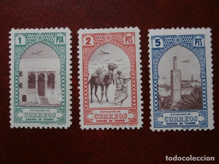 Sellos: ESPAÑA COLONIAS - BENEFICENCIA TANGER - HUERFANOS DE CORREOS 1946-1947 -EDIFIL 23/34 NUEVOS. - Foto 4 - 246699450