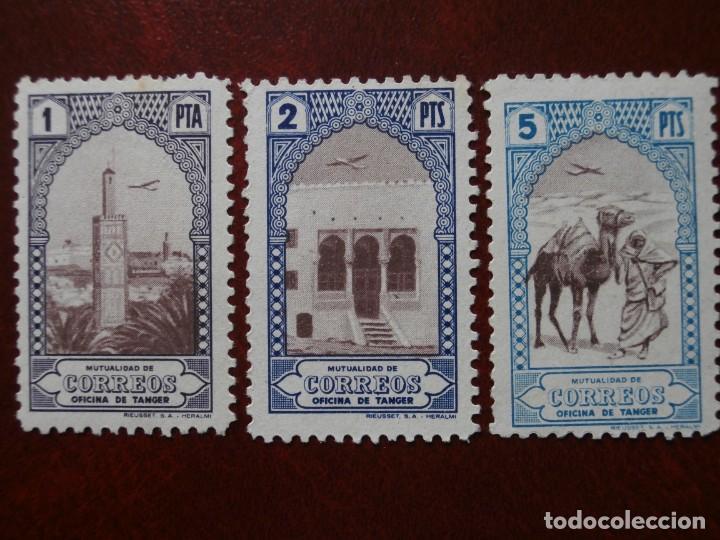 Sellos: ESPAÑA COLONIAS - BENEFICENCIA TANGER - HUERFANOS DE CORREOS 1946-1947 -EDIFIL 23/34 NUEVOS. - Foto 8 - 246699450