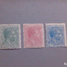 Sellos: FERNANDO POO - 1879 - EDIFIL 2/4 - SERIE COMPLETA - CENTRADOS - MH* - NUEVOS -VALOR CATALOGO 305€.. Lote 246705880
