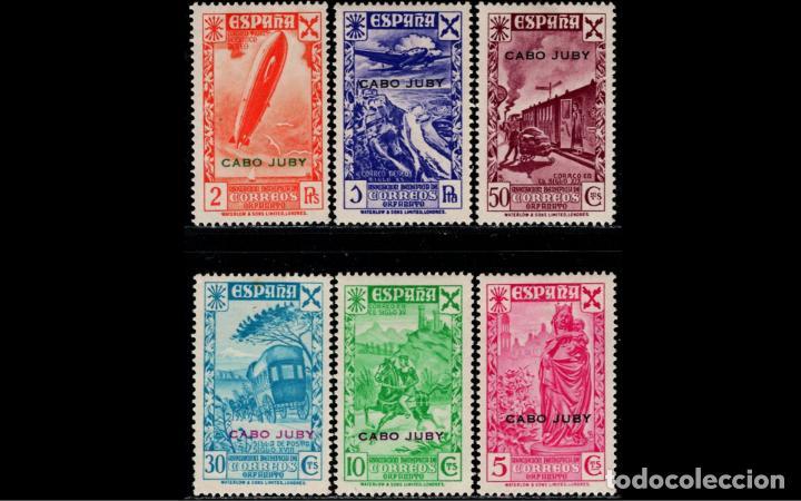 EXCOLONIA CABO JUBY - 1938 - BENEFICENCIA - EDIFIL 1/6 - SERIE COMPLETA - MH* - NUEVOS - V. CAT. 64€ (Sellos - España - Colonias Españolas y Dependencias - África - Cabo Juby)