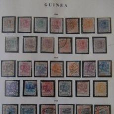 Timbres: ESPAÑA PRIMER CENTENARIO-COLONIAS- GUINEA 1920 EDIFIL 141/153 - 1922 ED. 154/166 - 1924 ED.167/178.. Lote 248003270