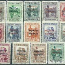Sellos: GUINEA ESP. LOTE COLECCION SERIES CLASICAS-EDIFIL167/274- AÑOS1924-1949 NUEVOS CON/SIN CHARNELA */**. Lote 248028060