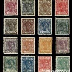 Sellos: RIO DE ORO EDIFIL 18/33 AÑO 1907 ALFONSO XIII COMPLETA */** C/S CHARNELA CENTRADA RARA BONITA. LUJO. Lote 248083850