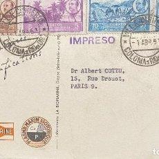 Sellos: ÁFRICA OCCIDENTAL ESPAÑOLA, TARJET APOSTAL CIRCULADA EN EL AÑO 1953. Lote 248434390