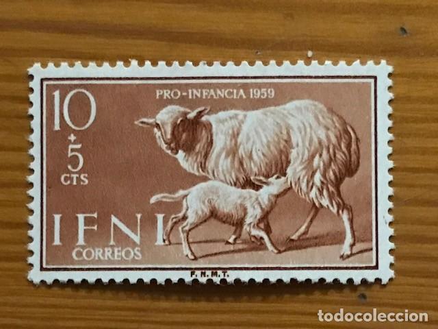 Sellos: IFNI, PRO INFANCIA, 1959, EDIFIL 152 AL 155, NUEVOS CON FIJASELLOS - Foto 2 - 262842330