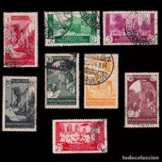 Sellos: MARRUECOS 1933-35.VISTAS PAISAJES.8 VALORESUSADO.EDIFIL.137-140. Lote 250311750
