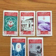 Sellos: MARRUECOS, 1947, PRO TUBERCULOSOS, EDIFIL 270 AL 274, NUEVOS **. Lote 251274735