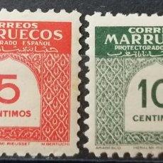 Sellos: 1953.CIFRAS, PROTECTORADO ESPAÑOL MARRUECOS** ,MNH ( 21-317). Lote 252802920