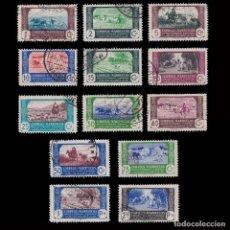 Sellos: ESPAÑA.MARRUECOS.1944.AGRICULTURA.13 VALORES.USADO.EDIFIL.246-258. Lote 256110260