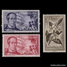 Sellos: FERNANDO POO.1963.DÍA SELLO.SERIE MNH EDIFIL 220-222. Lote 256148030